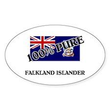 100 Percent FALKLAND ISLANDER Oval Decal
