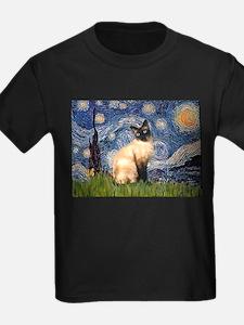 Starry Night Siamese T-Shirt