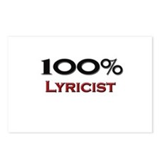 100 Percent Lyricist Postcards (Package of 8)