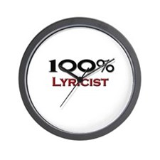 100 Percent Lyricist Wall Clock