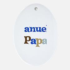 Manuel's Papa Oval Ornament