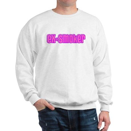 ex-smoker (pink) Sweatshirt