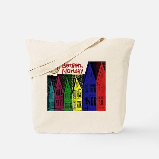 Bergen, Norway (Color) Tote Bag