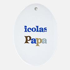 Nicolas's Papa Oval Ornament
