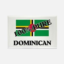 100 Percent DOMINICAN Rectangle Magnet