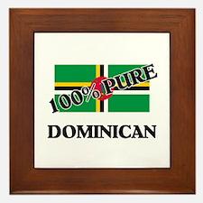 100 Percent DOMINICAN Framed Tile