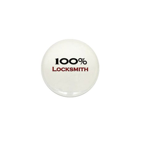 100 Percent Locksmith Mini Button (10 pack)