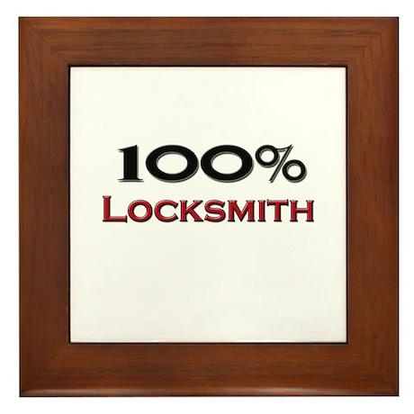 100 Percent Locksmith Framed Tile