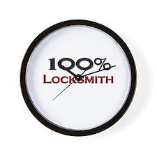 100 Percent Locksmith Wall Clock