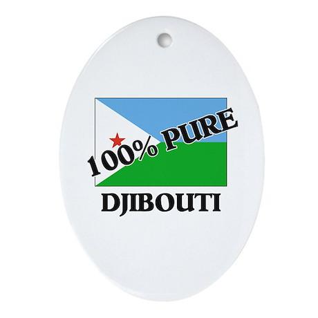 100 Percent DJIBOUTI Oval Ornament