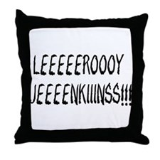 Cute Leeroy jenkins Throw Pillow