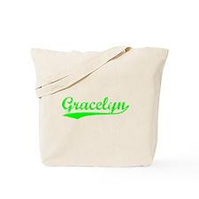 Vintage Gracelyn (Green) Tote Bag