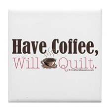 Have Coffee, Will Quilt Tile Coaster
