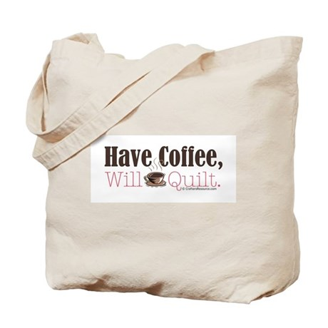 Have Coffee, Will Quilt Tote Bag