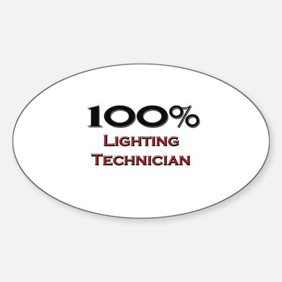 100 Percent Lighting Technician Oval Decal