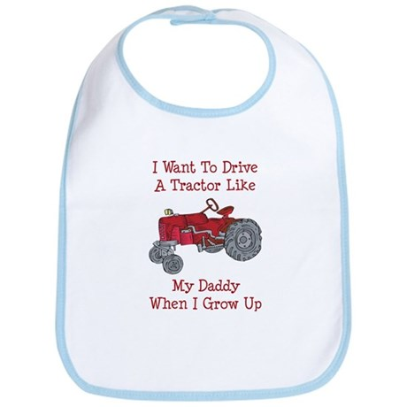 A Red Tractor Like Daddy Bib