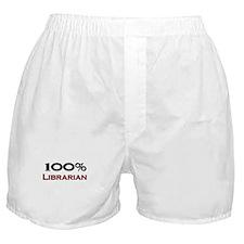 100 Percent Librarian Boxer Shorts
