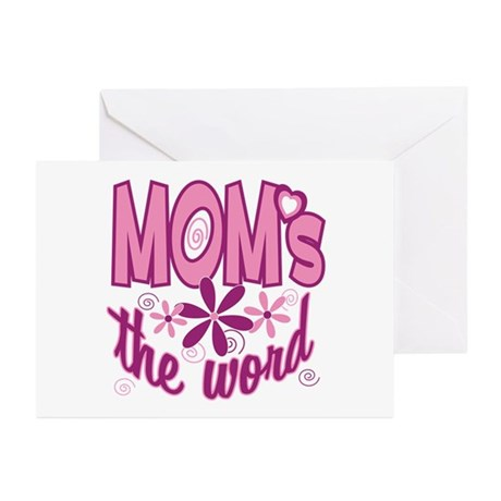 Mom's The Word Greeting Cards (Pk of 10)