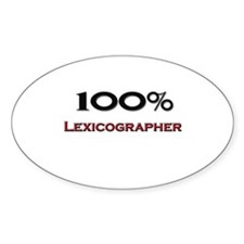100 Percent Lexicographer Oval Decal