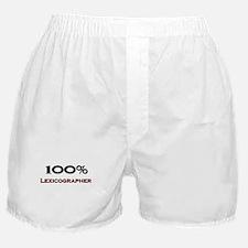 100 Percent Lexicographer Boxer Shorts