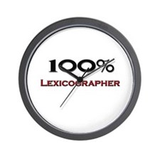 100 Percent Lexicographer Wall Clock