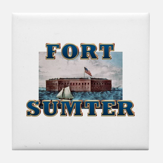 ABH Fort Sumter Tile Coaster