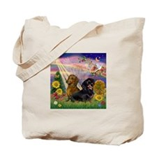 Autumn Angel & Dachshund Pair Tote Bag