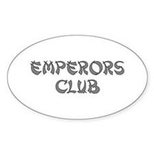 Silver Emperors Club Oval Decal