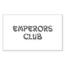 Silver Emperors Club Rectangle Decal