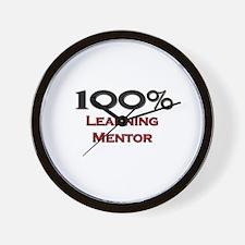 100 Percent Learning Mentor Wall Clock