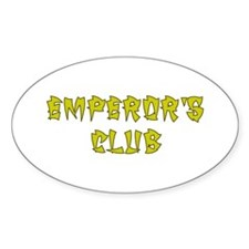 Gold Emperors Club Oval Decal