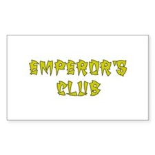 Gold Emperors Club Rectangle Decal