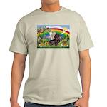 Rainbow & Wire Haired Dachshund Light T-Shirt