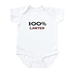 100 Percent Lawyer Infant Bodysuit