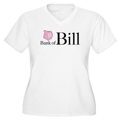 Bank of Bill Women's Plus Size V-Neck T-Shirt