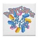 Daycare - Circle of fun! Tile Coaster