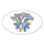 Daycare - Circle of fun! Oval Sticker (10 pk)