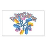 Daycare - Circle of fun! Rectangle Sticker 10 pk)