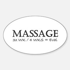 Massage 3 Times a Week Oval Decal