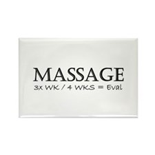 Massage 3 Times a Week Rectangle Magnet (10 pack)