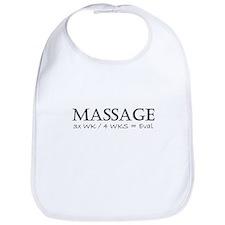 Massage 3 Times a Week Bib