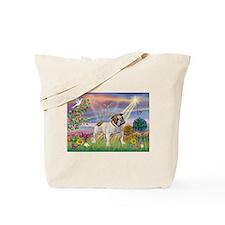Cloud Angel & English Bulldog Tote Bag