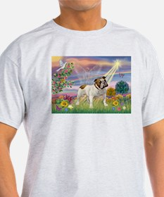 Cloud Angel & English Bulldog T-Shirt