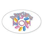 Daycare Mom - Lego Oval Sticker