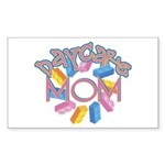 Daycare Mom - Lego Rectangle Sticker