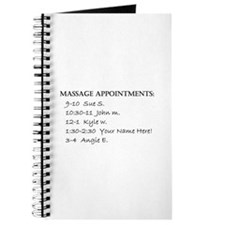 Massage Appointments Journal