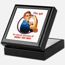 Rosie Riveter 40th Birthday Keepsake Box