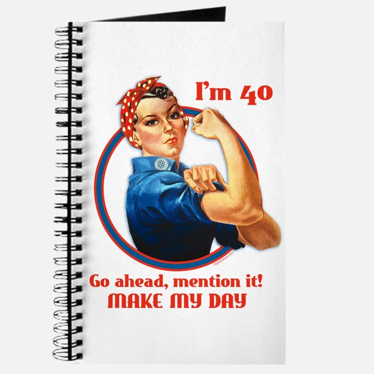 Rosie Riveter 40th Birthday Journal
