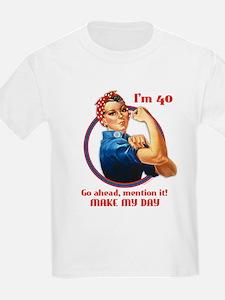 Rosie Riveter 40th Birthday T-Shirt