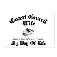 USCG Wife: It's an Honor Postcards (Package of 8)